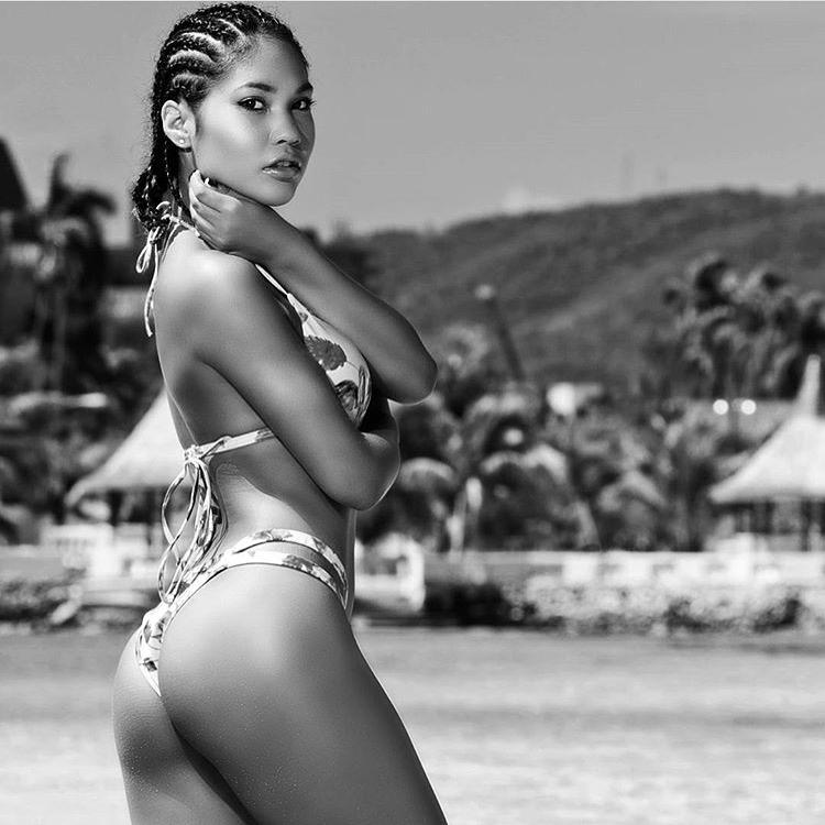 Female model photo shoot of Oceannea in Montego Bay, Jamaica