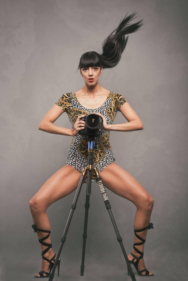 Female model photo shoot of FIFI R in Chris Huzzard studio