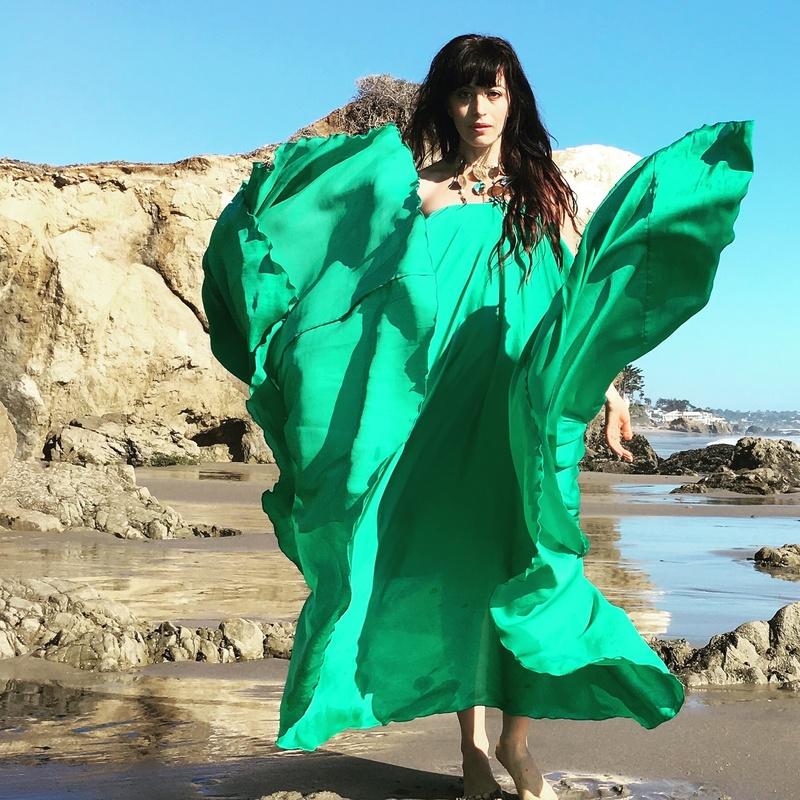 Female model photo shoot of Anya Joy in Los Angeles El Matador beach oct 2016