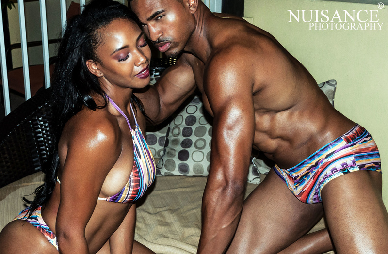Male and Female model photo shoot of Daniel T Brown and justicekelley  by Nuisance Photography in Miami Beach, Florida, makeup by Johanna Makeup Art, clothing designed by Beware Swimwear
