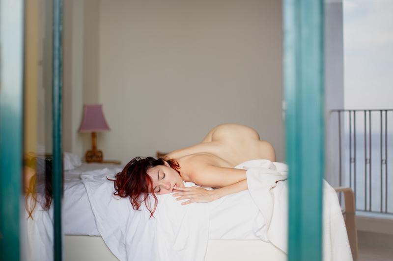 Female model photo shoot of Porcelain in Taormina, Sicily