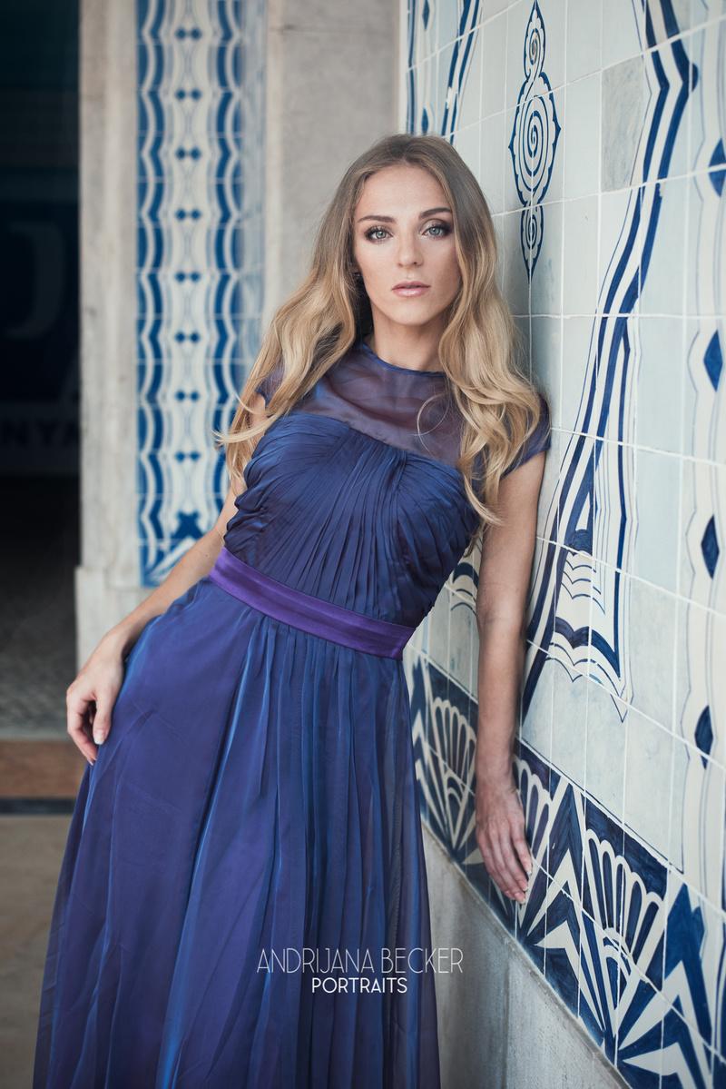 Female model photo shoot of andrijana_b and Chicory in Lisbon, makeup by Tamara Semilet