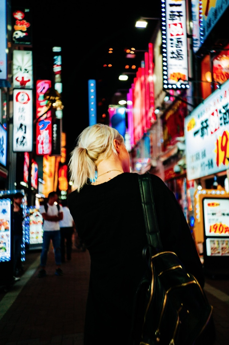 Female model photo shoot of NJulia by DanielDittus in Tokyo