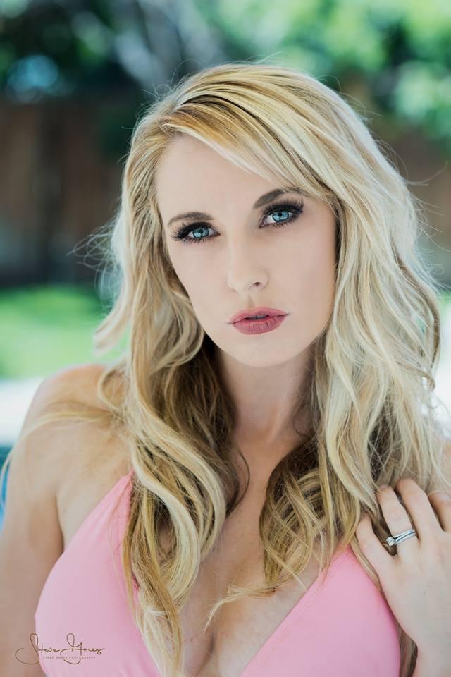 Female model photo shoot of Stephanie Gurne in Bettie La Rose Pool shoot