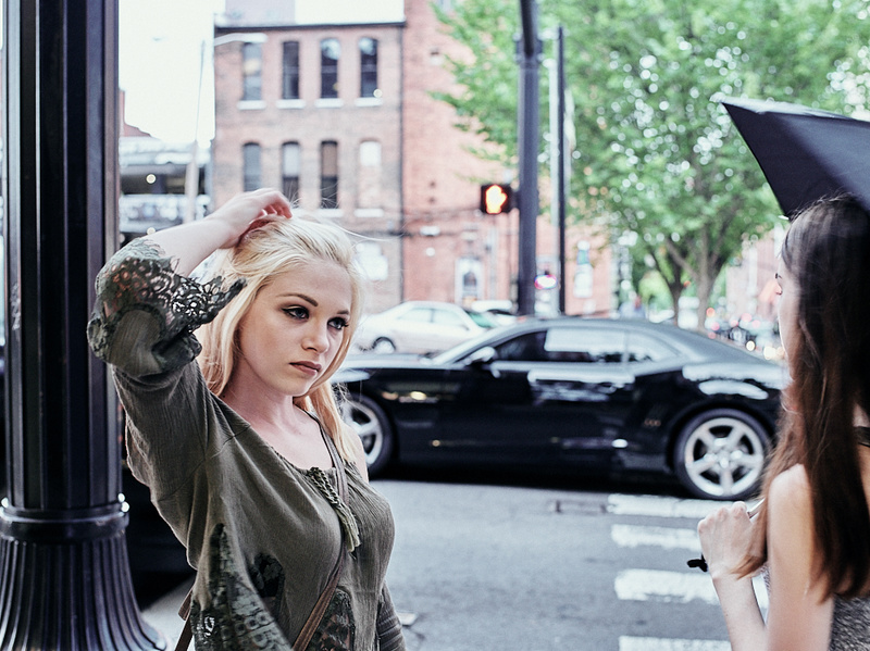 Male and Female model photo shoot of Dean Patterson, Cortney Hale and Hannah Tennille