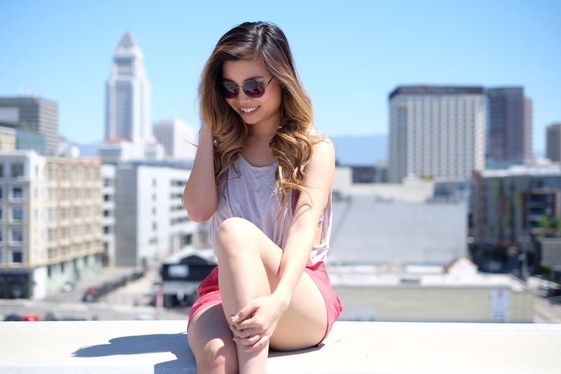 Female model photo shoot of L A N I