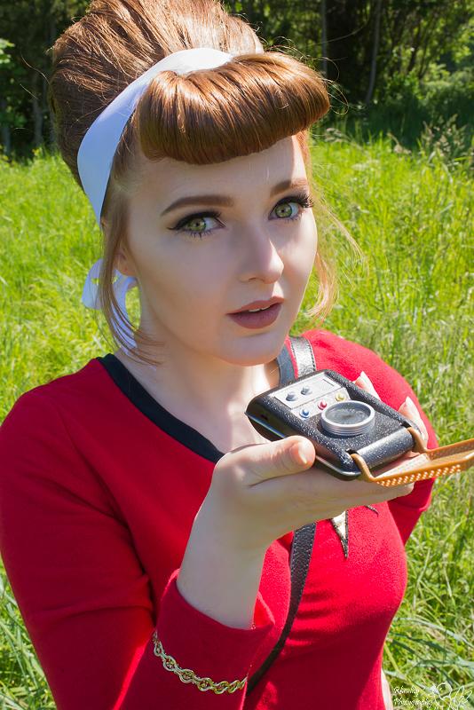Female model photo shoot of Rhea Anne Myers in Golden Gardens