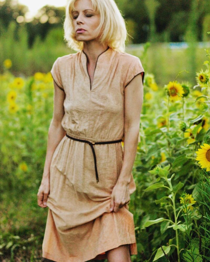 Female model photo shoot of Carolina D in My Farm
