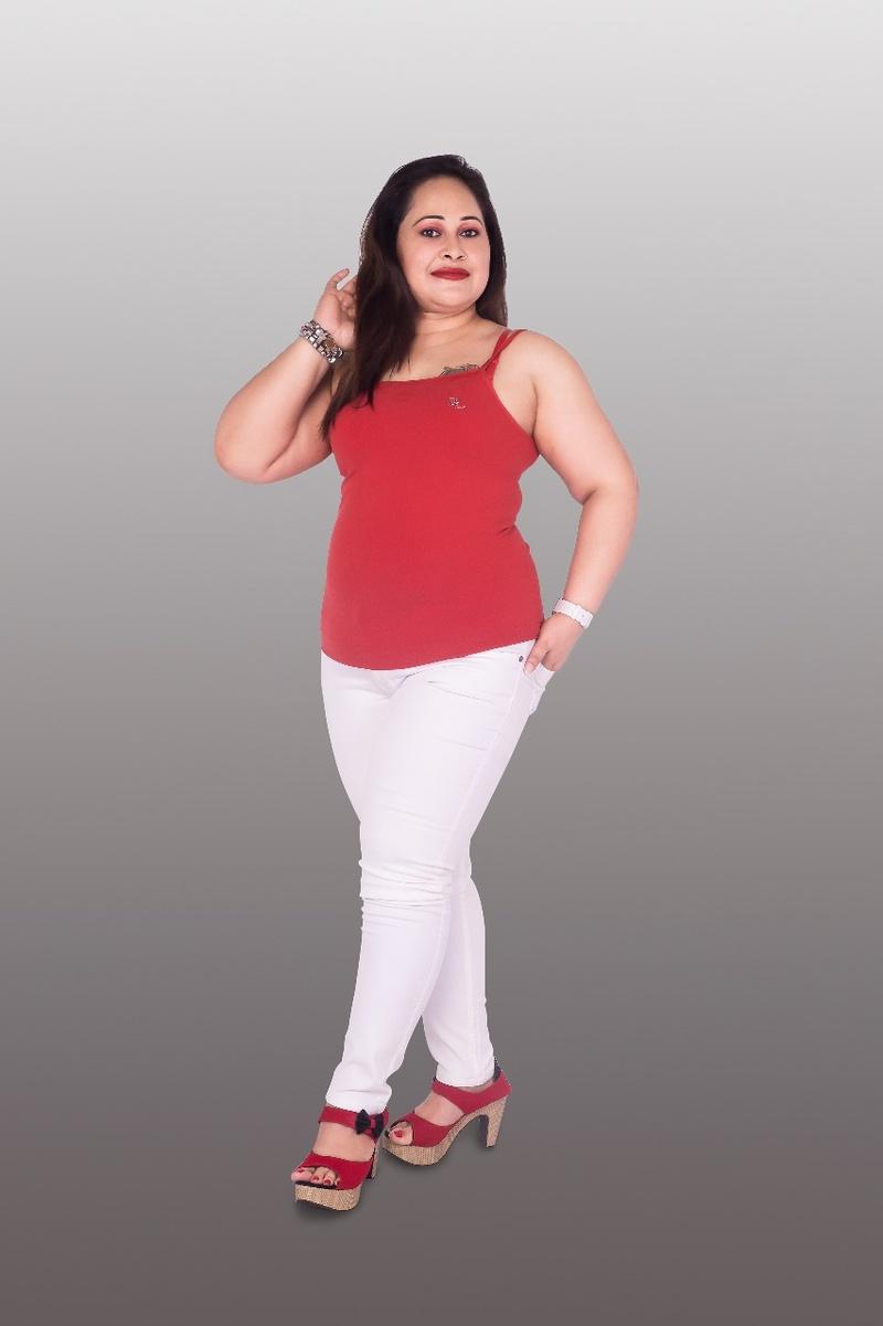 Female model photo shoot of PLUS MODEL pinky
