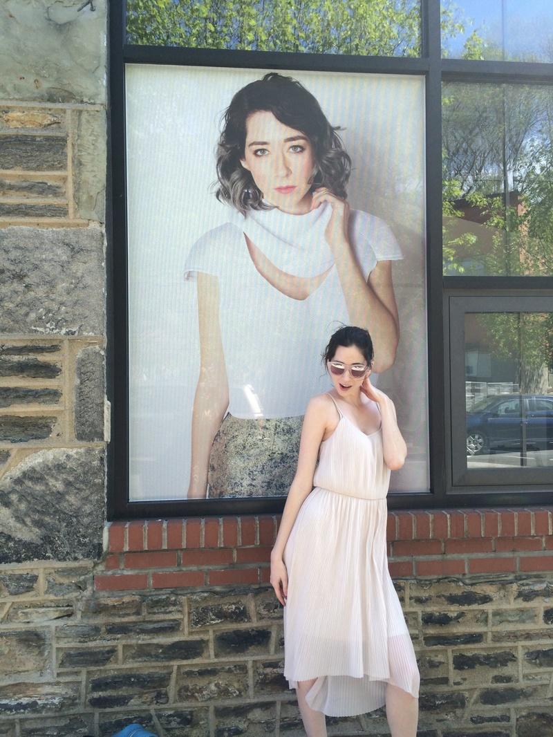 Female model photo shoot of Kellie Taylor in Sherman Mills