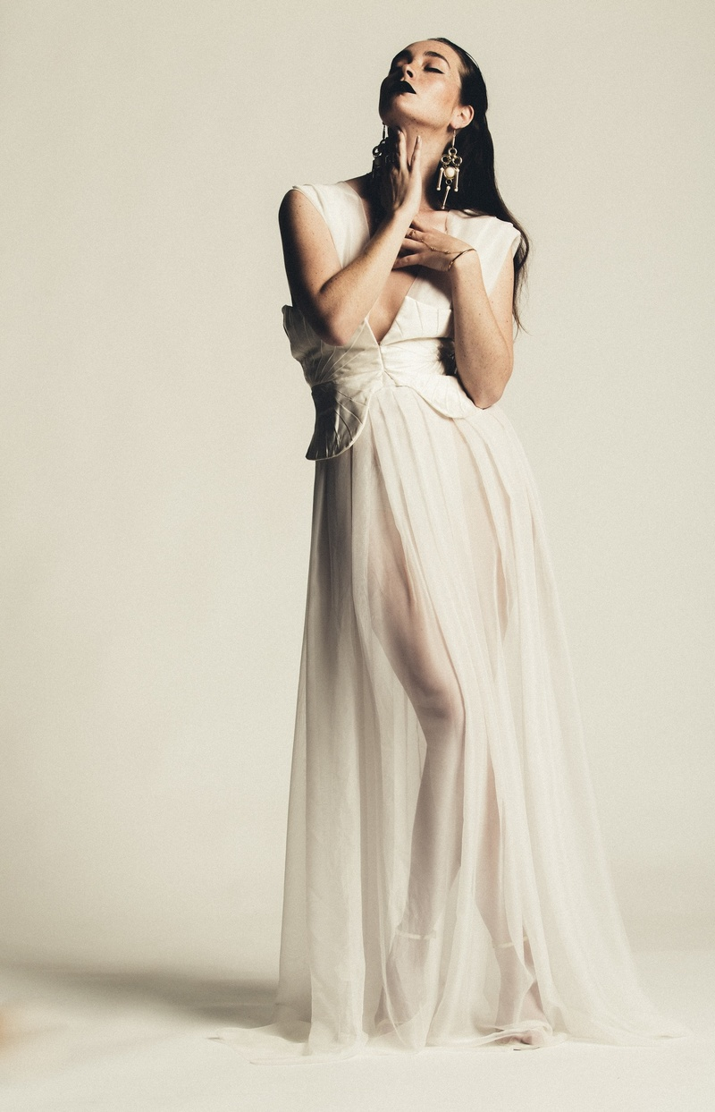 Female model photo shoot of ANAR London Designer