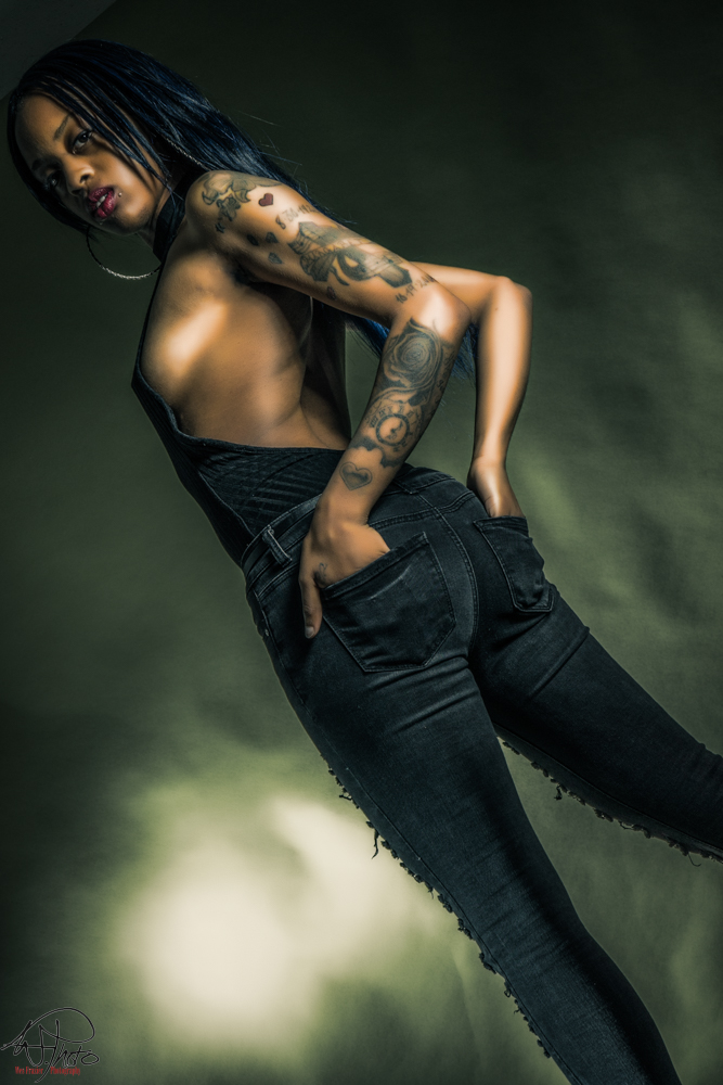 Male and Female model photo shoot of Wes Frazier Photography and Stonee Love