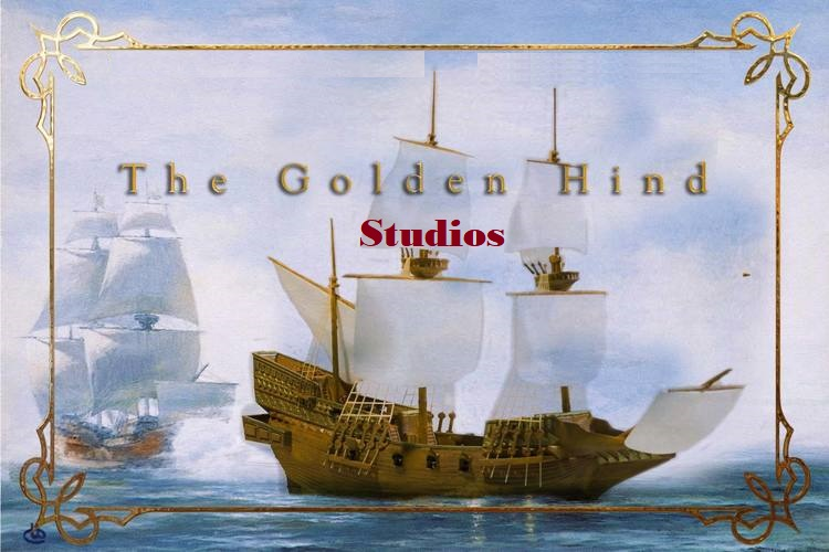 Male model photo shoot of golden Hind Studios