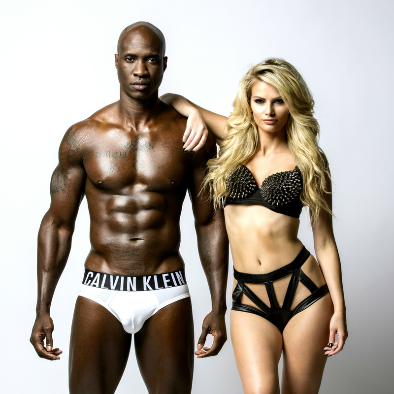 Male and Female model photo shoot of Andrew Delice and Heidi Fahrenbach by SoBe Images