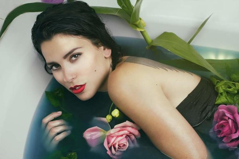 Female model photo shoot of Sohah in Montpellier