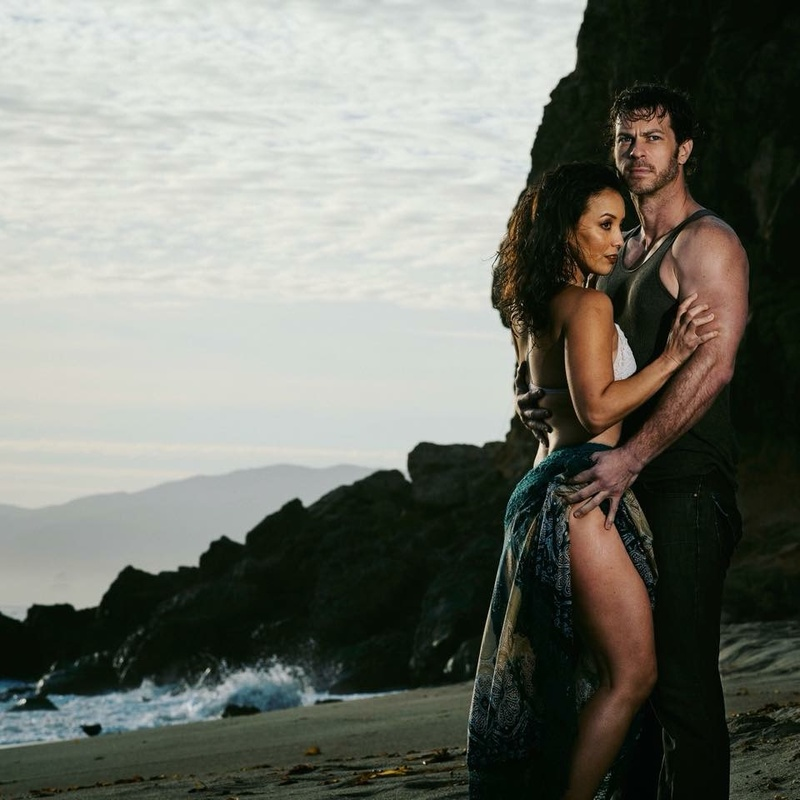 Female and Male model photo shoot of Wolf Momma and The Angry Viking by Reza Bahrami in Malibu, CA