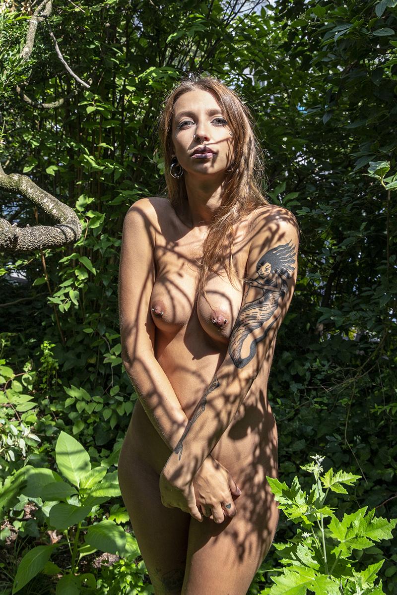 Female model photo shoot of Demonia SG
