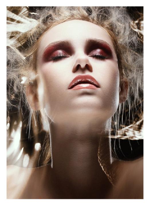 Female model photo shoot of MARAZ makeup and hair