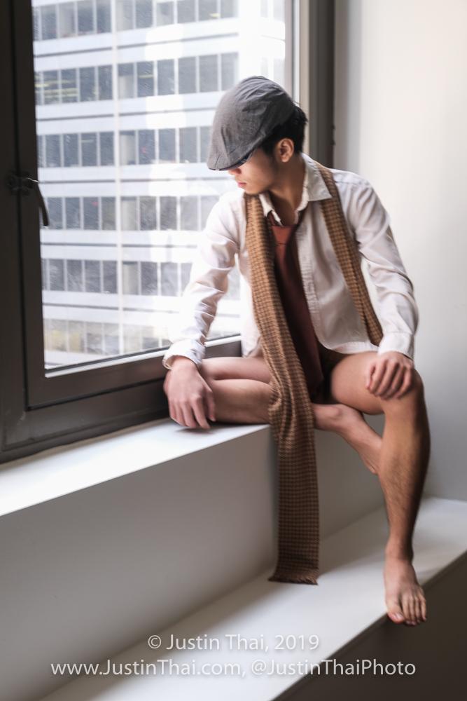 Male model photo shoot of Adam E by Justin Thai in Manhattan