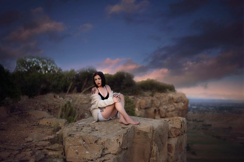 Female model photo shoot of LynnaeJade in Southeastern Utah