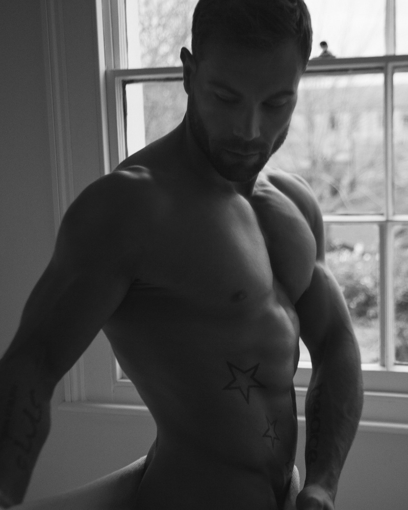 Male model photo shoot of MALESTROM PHYSIQUE  in London