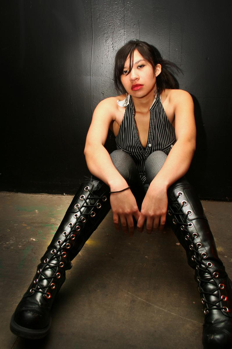 Female model photo shoot of Mata Photography