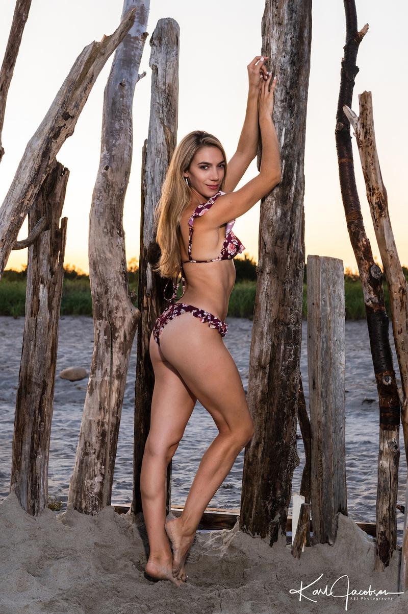 Female model photo shoot of MelissaA in Plum Island, MA