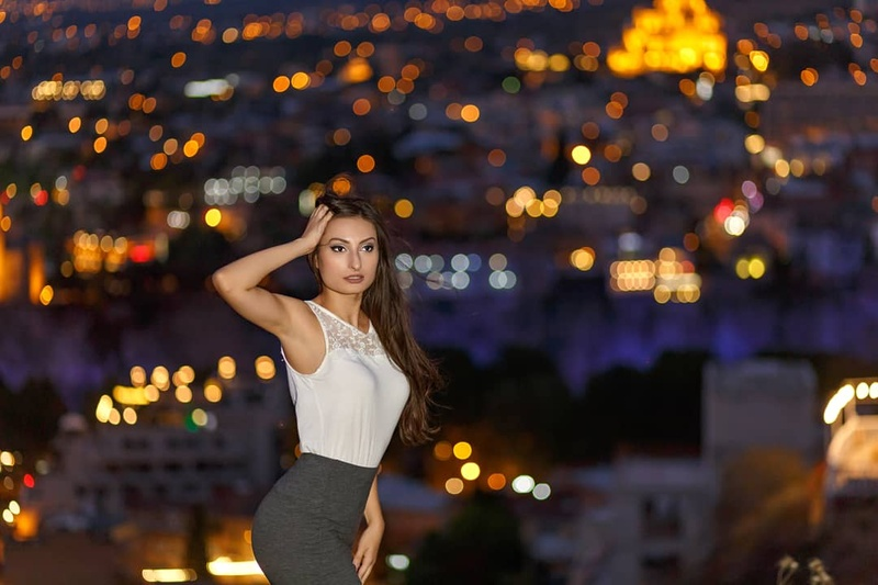 Female model photo shoot of Lucie Svamberova in Tbilisi