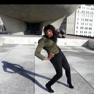 Female model photo shoot of Zakiyyah Hood