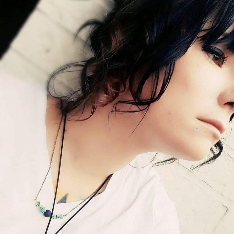 Female model photo shoot of Tattoo Hound