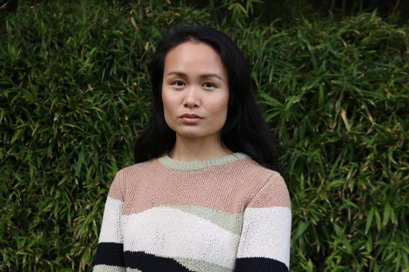 Female model photo shoot of junneyper in San Francisco Japanese Tea Garden
