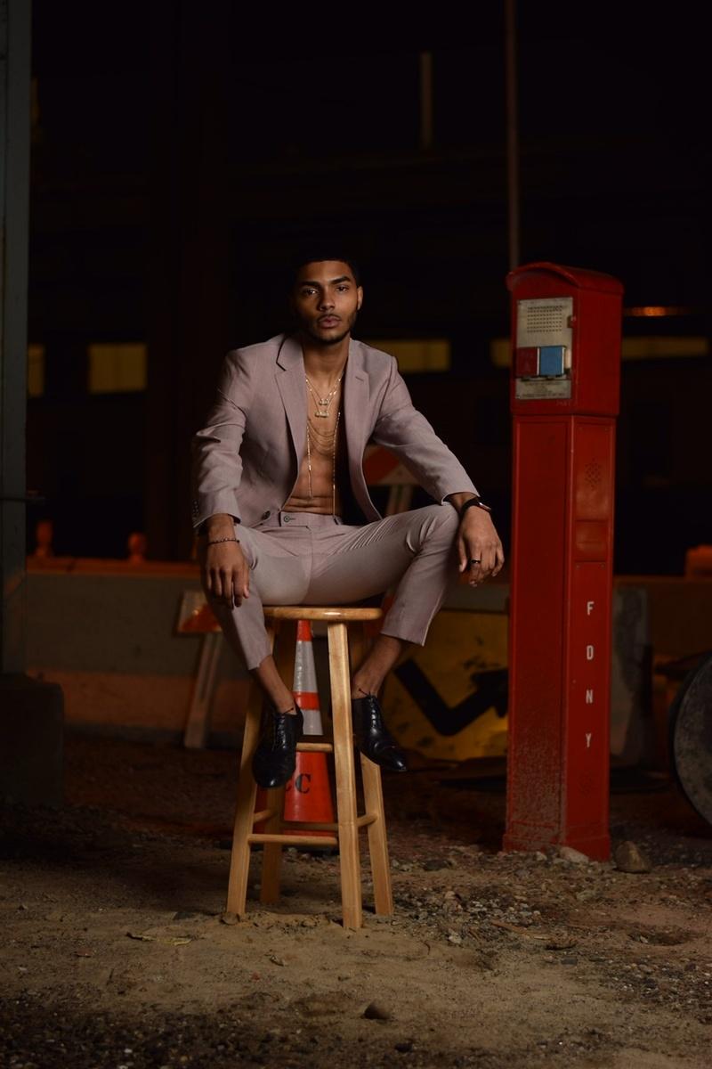 Male model photo shoot of Derricks Visuals in Harlem, New York
