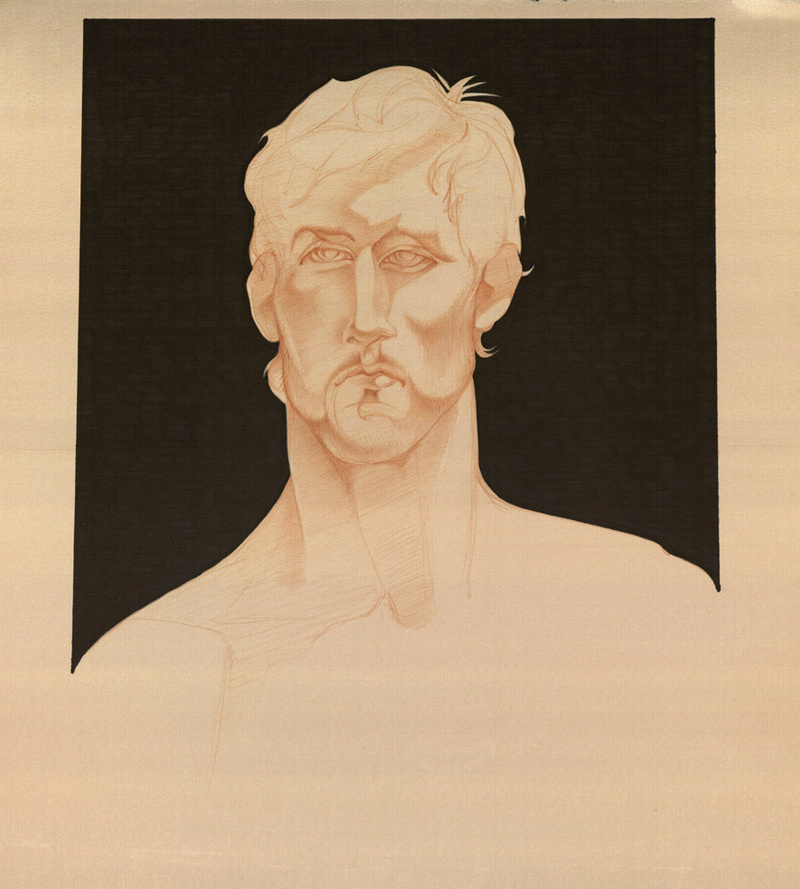 Male model photo shoot of Gary J Speziale in NYC, Mark Beard's drawing circle, collection of the artist.