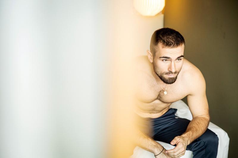 Male model photo shoot of Alban Kryeziu in Düsseldorf, Germany