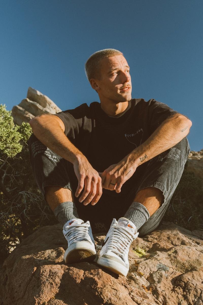 Male model photo shoot of timberrr in Vasquez Rock CA